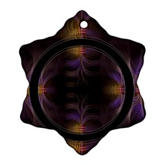 Wallpaper With Fractal Black Ring Ornament (snowflake)