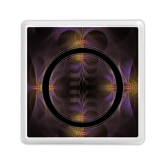 Wallpaper With Fractal Black Ring Memory Card Reader (square)