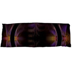 Wallpaper With Fractal Black Ring Body Pillow Case (Dakimakura)