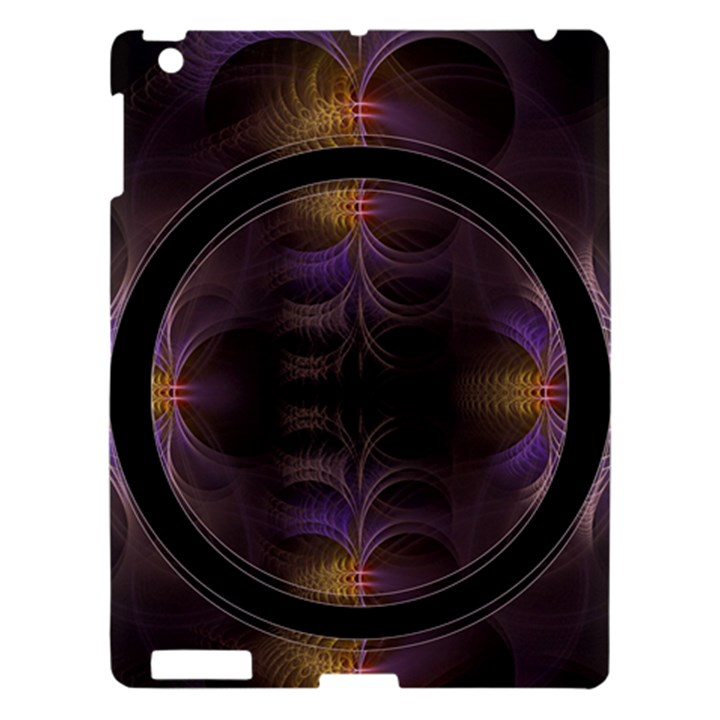Wallpaper With Fractal Black Ring Apple iPad 3/4 Hardshell Case