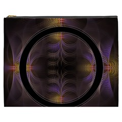 Wallpaper With Fractal Black Ring Cosmetic Bag (xxxl)
