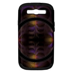 Wallpaper With Fractal Black Ring Samsung Galaxy S III Hardshell Case (PC+Silicone)