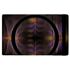 Wallpaper With Fractal Black Ring Apple Ipad 2 Flip Case