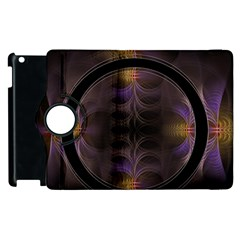 Wallpaper With Fractal Black Ring Apple Ipad 3/4 Flip 360 Case