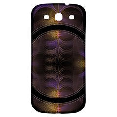 Wallpaper With Fractal Black Ring Samsung Galaxy S3 S Iii Classic Hardshell Back Case