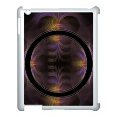 Wallpaper With Fractal Black Ring Apple iPad 3/4 Case (White)