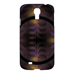 Wallpaper With Fractal Black Ring Samsung Galaxy S4 I9500/i9505 Hardshell Case