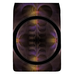 Wallpaper With Fractal Black Ring Flap Covers (l)