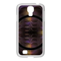 Wallpaper With Fractal Black Ring Samsung GALAXY S4 I9500/ I9505 Case (White)