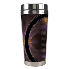 Wallpaper With Fractal Black Ring Stainless Steel Travel Tumblers