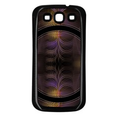 Wallpaper With Fractal Black Ring Samsung Galaxy S3 Back Case (Black)