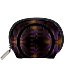 Wallpaper With Fractal Black Ring Accessory Pouches (small)