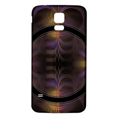 Wallpaper With Fractal Black Ring Samsung Galaxy S5 Back Case (white)