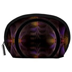 Wallpaper With Fractal Black Ring Accessory Pouches (large)
