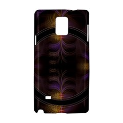 Wallpaper With Fractal Black Ring Samsung Galaxy Note 4 Hardshell Case
