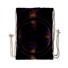 Wallpaper With Fractal Black Ring Drawstring Bag (Small)