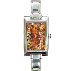 Abstraction Abstract Pattern Rectangle Italian Charm Watch