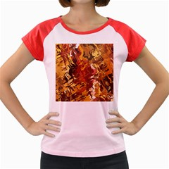 Abstraction Abstract Pattern Women s Cap Sleeve T Shirt