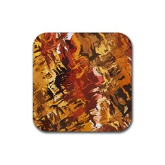 Abstraction Abstract Pattern Rubber Square Coaster (4 pack)