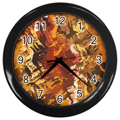 Abstraction Abstract Pattern Wall Clocks (Black)