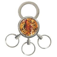 Abstraction Abstract Pattern 3 Ring Key Chains