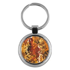 Abstraction Abstract Pattern Key Chains (Round)