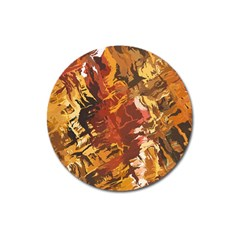 Abstraction Abstract Pattern Magnet 3  (Round)