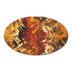 Abstraction Abstract Pattern Oval Magnet