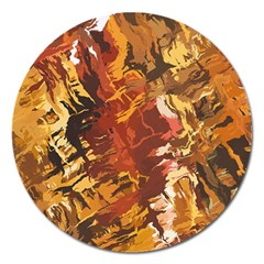 Abstraction Abstract Pattern Magnet 5  (Round)