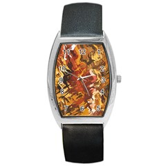 Abstraction Abstract Pattern Barrel Style Metal Watch