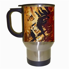 Abstraction Abstract Pattern Travel Mugs (White)