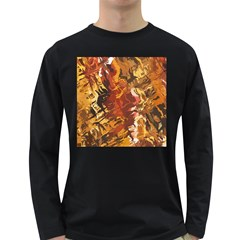 Abstraction Abstract Pattern Long Sleeve Dark T-Shirts