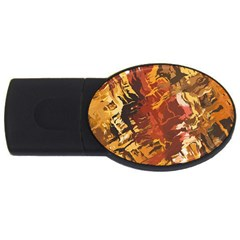 Abstraction Abstract Pattern Usb Flash Drive Oval (4 Gb)