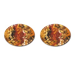 Abstraction Abstract Pattern Cufflinks (Oval)