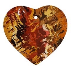 Abstraction Abstract Pattern Heart Ornament (Two Sides)