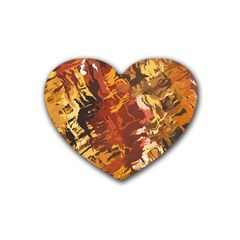 Abstraction Abstract Pattern Heart Coaster (4 pack)
