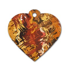 Abstraction Abstract Pattern Dog Tag Heart (Two Sides)