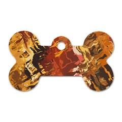 Abstraction Abstract Pattern Dog Tag Bone (Two Sides)