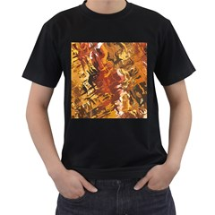 Abstraction Abstract Pattern Men s T-Shirt (Black)