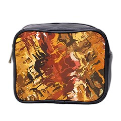 Abstraction Abstract Pattern Mini Toiletries Bag 2 Side