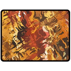 Abstraction Abstract Pattern Fleece Blanket (Large)