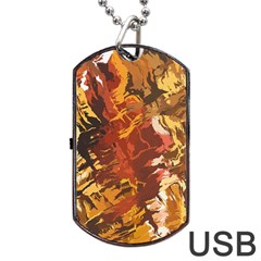 Abstraction Abstract Pattern Dog Tag Usb Flash (one Side)