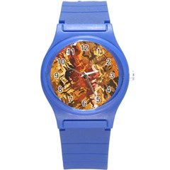 Abstraction Abstract Pattern Round Plastic Sport Watch (S)