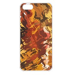 Abstraction Abstract Pattern Apple iPhone 5 Seamless Case (White)