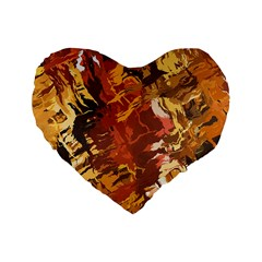 Abstraction Abstract Pattern Standard 16  Premium Heart Shape Cushions