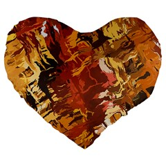 Abstraction Abstract Pattern Large 19  Premium Heart Shape Cushions