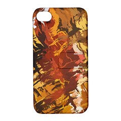 Abstraction Abstract Pattern Apple Iphone 4/4s Hardshell Case With Stand