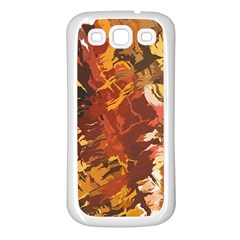 Abstraction Abstract Pattern Samsung Galaxy S3 Back Case (White)