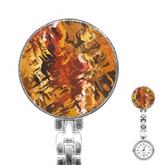 Abstraction Abstract Pattern Stainless Steel Nurses Watch