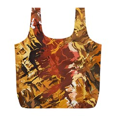 Abstraction Abstract Pattern Full Print Recycle Bags (L)